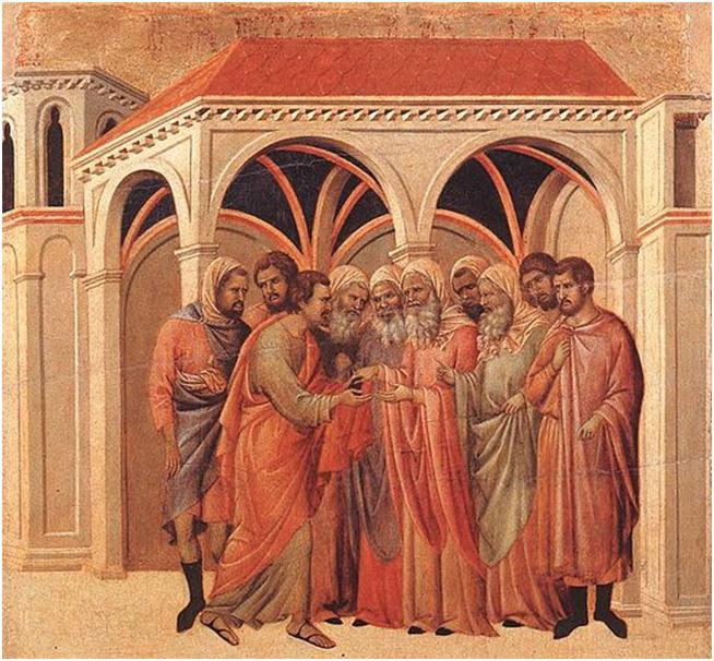 10 Duccio di Boninsegna - Il patto di Giuda