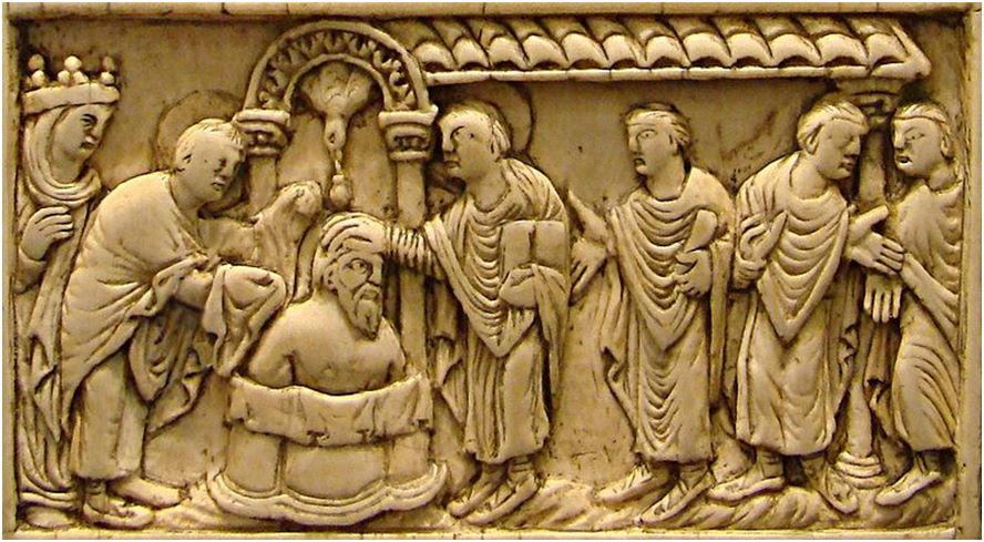 12 Il battesimo di Clodoveo (496) – Museé de Picardie, Amiens2