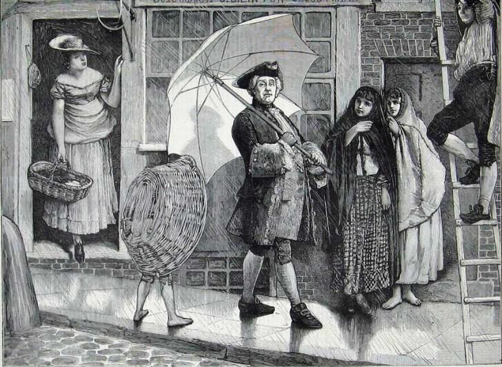 Per strada senza ombrello 01